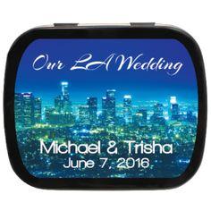 Los Angeles Personalized Wedding Mint Tins, a fresh thank you for your destination event! #destinationwedding #favors