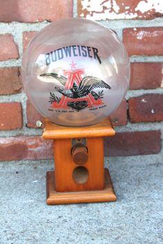 Vintage Budweiser Peanut Gumball Candy Dispenser by WarrenExchange, $49.00