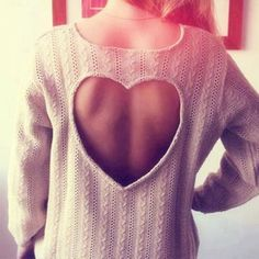 Heart-shaped Hollow Out Long Sweater