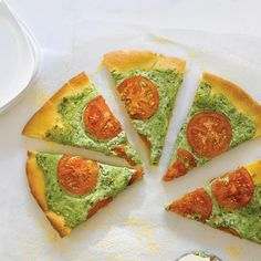 Giada shares her amazing simple recipe for a pizza perfect meal. Can you guess what makes that cheesy garlic topping a beautiful light green color?!
