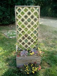 Build a planter with lattice attached to the back to screen front patio from neighbors
