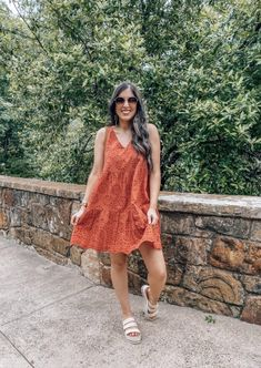 Blue Midi Dress, Coral Dress, Eyelet Dress, Target Summer Dresses, Best Summer Dresses, Modest Outfits, Classy Outfits, Casual Outfits, Sophisticated Outfits