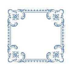 Blue Border free cross stitch pattern