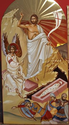 The Risen Christ - Othodox Icon art - Ανάστασις IC XC