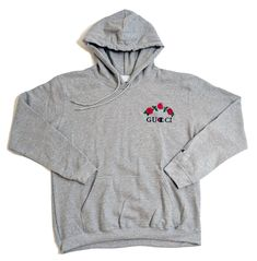 2b5b09fdec8 Champion Hoodie Rose Embroidery - Grey