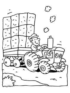 Crafts,Actvities and Worksheets for Preschool,Toddler and Kindergarten.Lots of worksheets and coloring pages. Tractor Coloring Pages, Animal Coloring Pages, Colouring Pages, Coloring Sheets, Coloring Books, Baby Drawing, Drawing For Kids, Tractors For Kids, Fall Wood Crafts