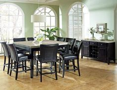 Monarch Marble Top Dining Room Set (TABLE+8CHAIRS+SERVER) $1489.99   ******In Store Pick up If not in the Dallas Area******   Contact Jay Kemp for additional information and questions regarding warranty.   Like us on Facebook for specials that we have going on and for additional information on products check us out at http://www.knoxfamilyfurniture.net