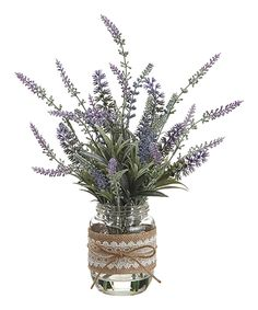 Look at this 13'' Lavender Glass Vase Arrangement on #zulily today!