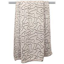 """DII Bone Dry Warm, Soft, Plush, Microfiber Pet Blanket for Couch, Car, Trunk, Cage, Kennel, Dog House, 36x48"""", Taupe"""