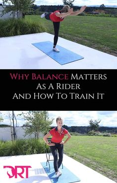 Learn how to improve your balance for dressage and why it is important as a rider to train this in ourselves as much as we do our horses. Horse Exercises, Balance Exercises, Fitness Workouts, Dressage, Horse Riding Tips, Riding Gear, E Sport, Riding Lessons, Equestrian Outfits