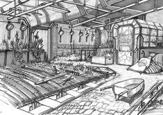 BioShock Art & Pictures,  Indoor Garden Environment Sketch