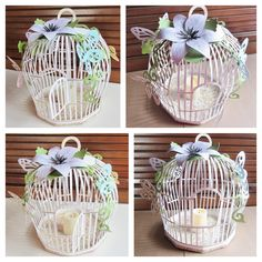 Decorating your home with such pretty Spring decor is so fun!!  Love Beth's Birdcage from PLAYFUL PARLOUR SVG KIT!