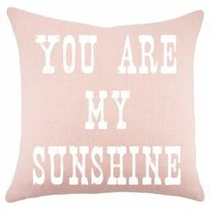 "Featuring a typographic motif in pink and white, this handmade burlap pillow adds a charming touch to your sofa, loveseat, or chaise. Made in the USA.  Product: PillowConstruction Material: Burlap coverColor: Pink and whiteFeatures:  Handmade by TheWatsonShopZipper enclosureInsert included Dimensions: 16"" x 16""Cleaning and Care: Spot clean"