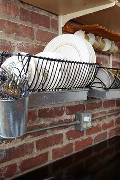 dish storage and drying rack combo
