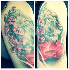 What I want my lion to look like, realistic with the realistic petals flowing over its face, but of course roses instead of the lilies.