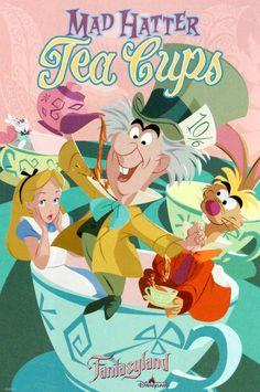 Mad Hatter Tea Cups -- Disneyland