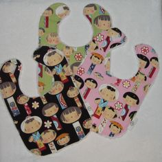 Yui Kokeshi bibs