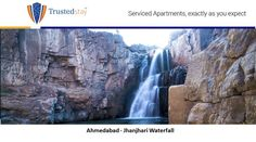 If you're planning to go on a day trip from Ahmedabad, Jhanjari Waterfall is your go to place. It is worth visiting once for its lush green landscapes, gushing water and less crowd. You should try visiting here if you're an adventurous person. Drive down here in a few hours from #TrustedStay #servicedapartment, Ellisbridge, #Ahmedabad