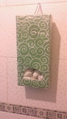 Recycled box - grocery bag holder