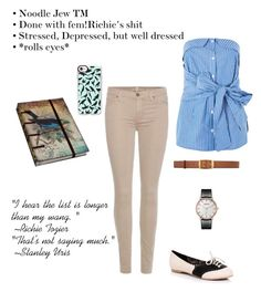 """""""Modern losers: Female Stan Uris"""" by sophia-smiles ❤ liked on Polyvore featuring 7 For All Mankind, Topshop, STELLA McCARTNEY, Casetify, NOVICA and modern"""