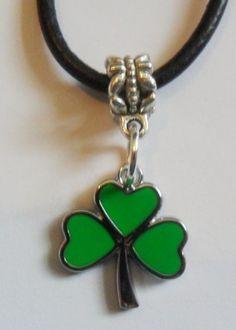 Notre dame Irish luck shamrock necklace