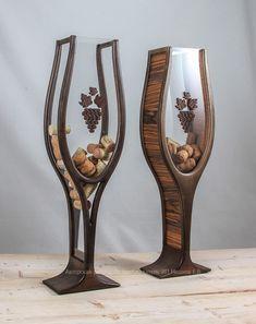 Копилка для винных пробок, необычный подарок, деревянный сувенир