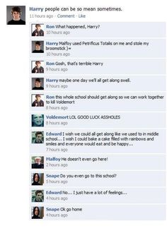 Harry Potter, Twilight, and Mean Girls, these are a few of my favorite things :)