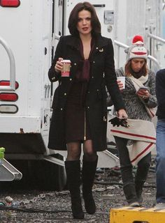 Lana On Set The Other Day.. You Can Also See Jared Gilmore's Mom In The…