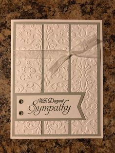 Making Greeting Cards, Greeting Cards Handmade, Making Cards, Scrapbooking, Scrapbook Cards, Cricut Cards, Stampin Up Cards, Sympathy Card Sayings, Embossed Cards