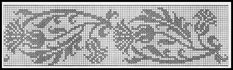 Cross Stitch Borders Thistle border or vertical chart: Gallery. Filet Crochet Charts, Crochet Motifs, Crochet Borders, Crochet Cross, Knitting Charts, Knitting Stitches, Cross Stitch Fabric, Cross Stitch Borders, Cross Stitch Designs