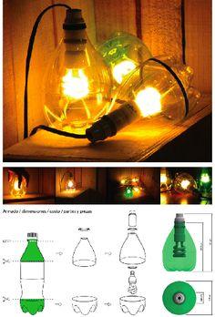 DIY Plastic Bottle Lamp | FabDIY