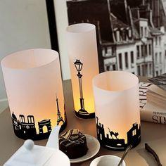 Des photophores décorés de monuments parisiens