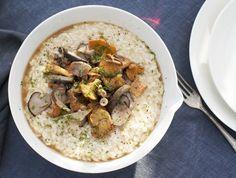 Risotto bianco ai funghi Sale&Pepe ricetta