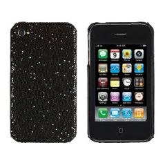 Hard Sparkles Case for Apple iPhone 4, 4S (AT, Verizon, Sprint) - Black