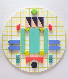"Saatchi Art Artist Hyesoo You; Sculpture, ""Komponieren Could be composition clocks? Sculptures Céramiques, Wood Sculpture, Architecture Constructiviste, Cirque Vintage, Street Art, Memphis Design, Design Graphique, Deco Design, Textures Patterns"