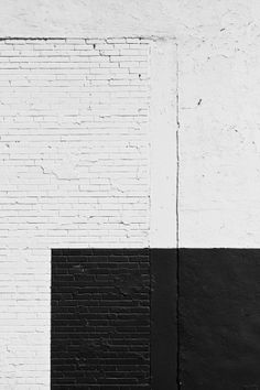 black white brick wall