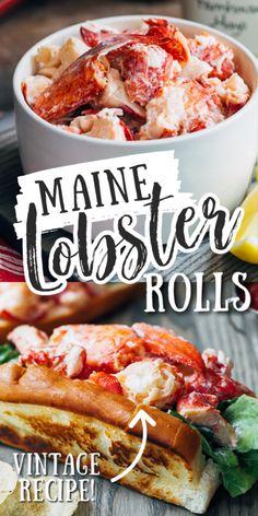 Lobster Roll Recipes, Lobster Rolls, Fish Recipes, Seafood Recipes, Vegan Recipes, Dinner Recipes, Cooking Recipes, Salmon Recipes, Cooking Tips
