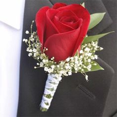 wedding boutineers red white black - Google Search