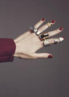 maison martin margiela rings