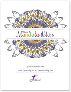 Mandala coloring page designs printed on artist quality paper. Mandala Coloring Pages, Adult Coloring Pages, Page Design, Cover Design, Colouring, Coloring Books, Paper Stand, Geometry Art