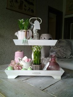 ... Woonkamer Brocante on Pinterest  Large table lamps, Met and Brocante