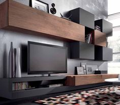 TV Unit Design Inspiration is a part of our furniture design inspiration series. Furniture Inspiration series is a weekly showcase of incredible designs Wall Unit Designs, Tv Unit Design, Tv Wall Design, House Design, Living Room Tv Unit, Home Living Room, Living Room Designs, Living Spaces, Tv Regal