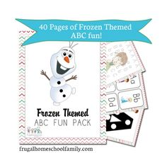 FREE Frozen Themed ABC & Math Fun Pack. Several to choose from!
