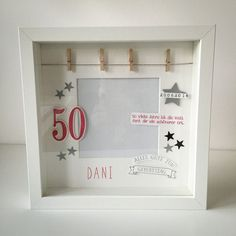 Wedding favors - picture frames - for a birthday - a designer piece from Herzdinge . Wedding Favors – Photo Frames – Birthday – a unique product by Herzdinge on DaWanda Party Favors, Wedding Favors, Birthday Frames, 50th Birthday Party, Birthday Favors, Best Wedding Gifts, Diy Frame, Box Frames, Birthday Decorations