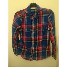 Like New Red Plaid Shirt Red and blue plaid shirt from Old Navy. Listed under brand for visibility Urban Outfitters Tops Button Down Shirts