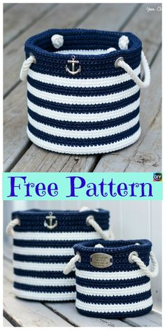 Crochet Nautical Basket Free Crochet Pattern Related Posts:Hanging Basket Free Crochet Free Crochet Basket Patterns for BeginnersFree Pattern – Crochet Nautical Baby BlanketNautical Basket Free Crochet PatternStorage Basket Free Crochet Patterns Bonnet Crochet, Bag Crochet, Crochet Basket Pattern, Crochet Purses, Crochet Beanie, Crochet Gifts, Crochet Stitches, Crochet Baskets, Crochet Basket Tutorial