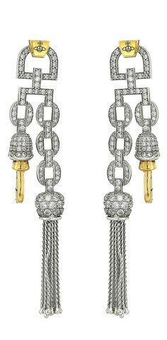 Shine like the star you are.  Deliver delicious drama adorned with the amazing act of the dazzling  #VivienneWestwood Electra #Clasp #Earrings.  #jewelry