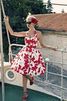 """Blackbutterfly /""""LUNA/"""" rétro sérénité 50/'s vintage bal demoiselle d/'honneur robe de soirée"""