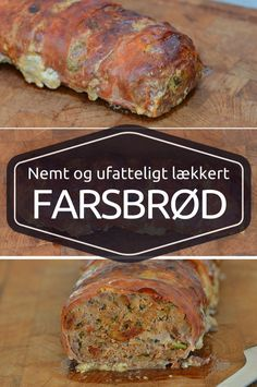 Det her farsbrød er spækket med dejlige smage fra hvidløg, krydderurter og soltørrede tomater samt den sprøde frakke af parmaskinke. Parmesan Risotto, Food N, Food And Drink, Snack Recipes, Cooking Recipes, Work Meals, Western Food, Everyday Food, Food Inspiration