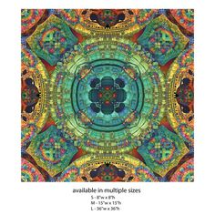 My Wonderful Walls Color and Symmetry Kaleidoscope Wall Sticker by Lyle Hatch, Medium, Multicolored
